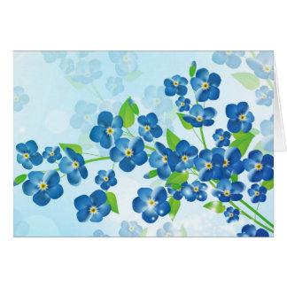 Vergessen Sie mich nicht Blumen-Gruß-Karte Karte