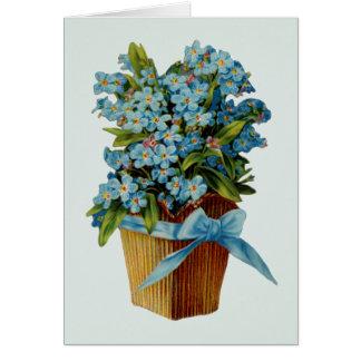 Vergessen Sie mich nicht Blumen Karte
