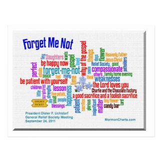 Vergessen Sie mich nicht Gespräch durch Postkarte