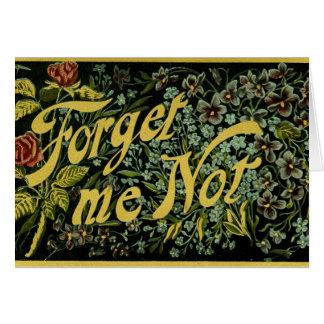 Vergessen Sie mich nicht Karte