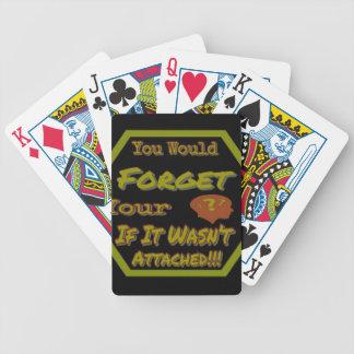 Vergessen Sie nicht Ihr Kopf-Grün Bicycle Spielkarten