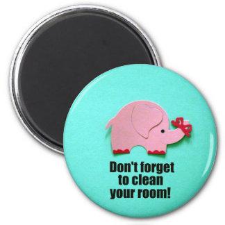Vergessen Sie nicht, Ihren Raum zu säubern! Magnets