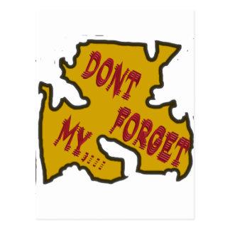 Vergessen Sie nicht mein Postkarte