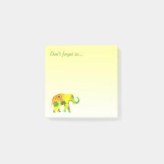 Vergessen Sie… nicht mit schönem Elefanten Post-it Klebezettel