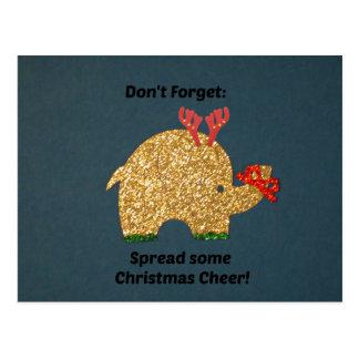 Vergessen Sie nicht: Verbreiten Sie irgendeinen Postkarte