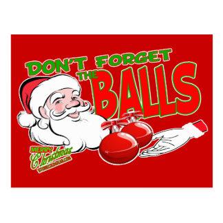 Vergessen Sie nicht Weihnachtsbälle Postkarte
