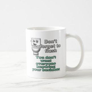 Vergessen Sie nicht zu erröten. Sie wollen nicht Kaffeetasse