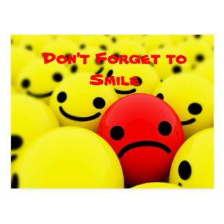 Vergessen Sie nicht, zu lächeln - Postkarte