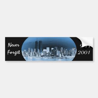 Vergessen Sie nie am 11. September Autoaufkleber
