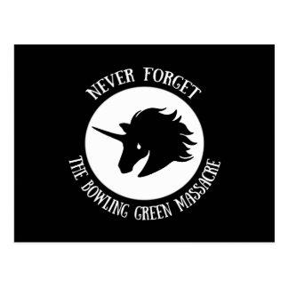 Vergessen Sie nie: Das Bowling- Greenmassaker Postkarte