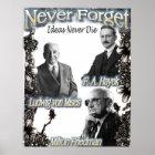 Vergessen Sie nie die Österreicher Hayek, Friedman Poster