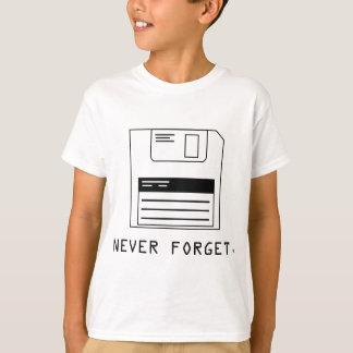Vergessen Sie nie: Diskette T-Shirt
