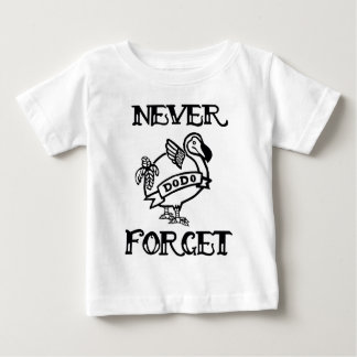 Vergessen Sie nie Dodo Baby T-shirt