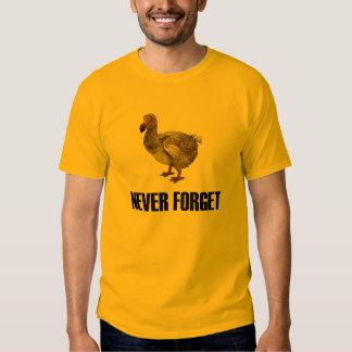 Vergessen Sie nie Dodo-Vogel-T - Shirt