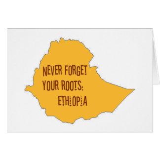 Vergessen Sie nie Ihre Wurzeln: Äthiopien Karte