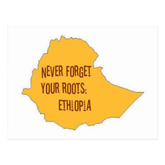 Vergessen Sie nie Ihre Wurzeln: Äthiopien Postkarte