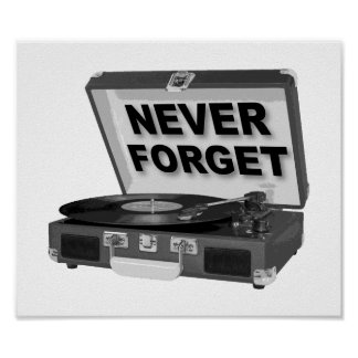 Vergessen Sie nie Plattenen-lustiges Plakat