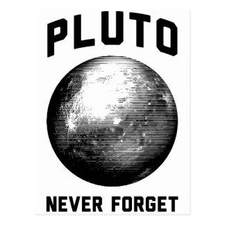 Vergessen Sie nie Pluto Postkarte