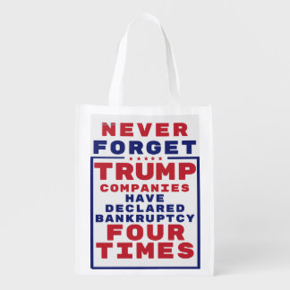 Vergessen Sie nie Trumpf-Konkurse Wiederverwendbare Einkaufstasche