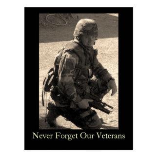 Vergessen Sie nie unsere Veterane Postkarte