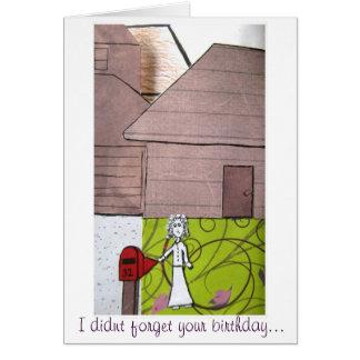 Vergessener Geburtstag Karte