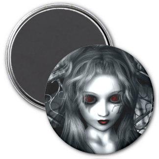Vergessener Sturm-gotischer Vampir Runder Magnet 7,6 Cm