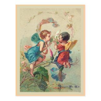 """""""Vergissmeinnicht-"""" Vintage Postkarte"""