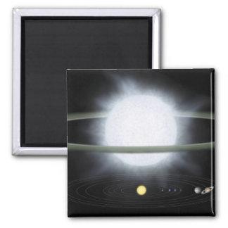 Vergleich der Größe eines hypergiant Sternes Quadratischer Magnet