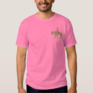 Vergnügens-Reiter Besticktes T-Shirt