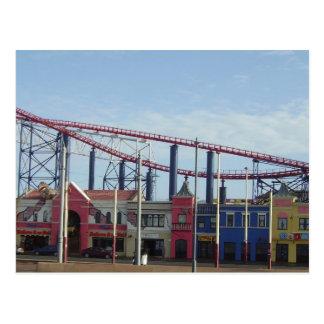 Vergnügens-Strand, Blackpool Postkarte