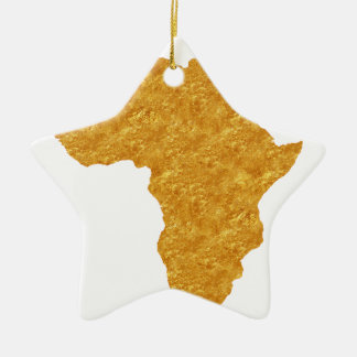 Vergoldet Afrika Keramik Ornament