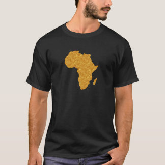 Vergoldet Afrika T-Shirt