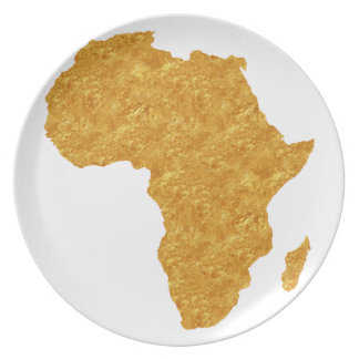 Vergoldet Afrika Teller