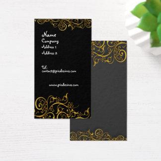 Vergoldete Eisen-Wirbels-Geschäftskarte Visitenkarte