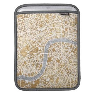 Vergoldete Stadt-Karte von London Sleeve Für iPads