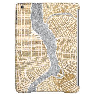 Vergoldete Stadt-Karte von New York
