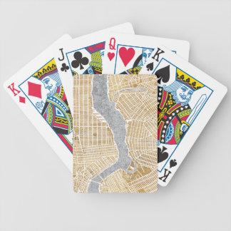 Vergoldete Stadt-Karte von New York Bicycle Spielkarten