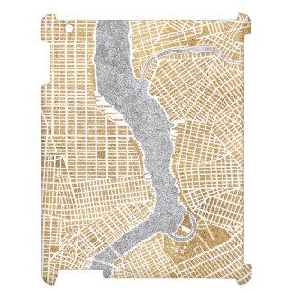 Vergoldete Stadt-Karte von New York iPad Hülle