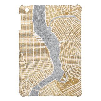 Vergoldete Stadt-Karte von New York iPad Mini Hülle