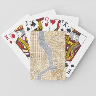 Vergoldete Stadt-Karte von New York Spielkarten