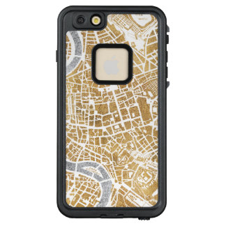 Vergoldete Stadt-Karte von Rom LifeProof FRÄ' iPhone 6/6s Plus Hülle