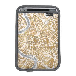 Vergoldete Stadt-Karte von Rom Sleeve Für iPad Mini