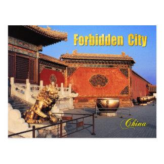 Vergoldeter Löwe an verbotener Stadt, Peking, Postkarte