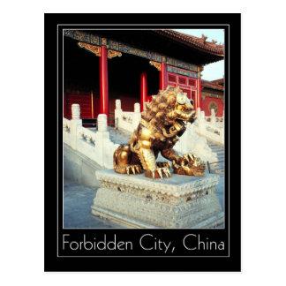 Vergoldeter Löwe u. CUB, verbotene Stadt, Peking, Postkarten