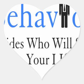 Verhalten Herz-Aufkleber