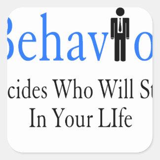 Verhalten Quadratischer Aufkleber