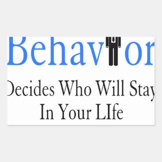 Verhalten Rechteckiger Aufkleber