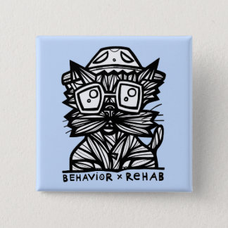 """""""Verhalten-Rehabilitations-"""" Quadrat-Knopf Quadratischer Button 5,1 Cm"""