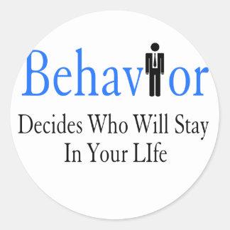 Verhalten Runder Aufkleber