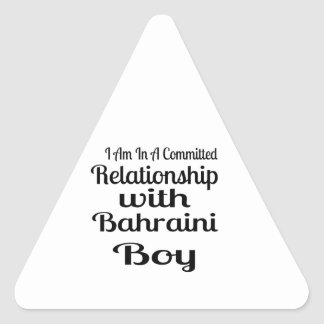Verhältnis Jungen zum von Bahrein Dreieckiger Aufkleber